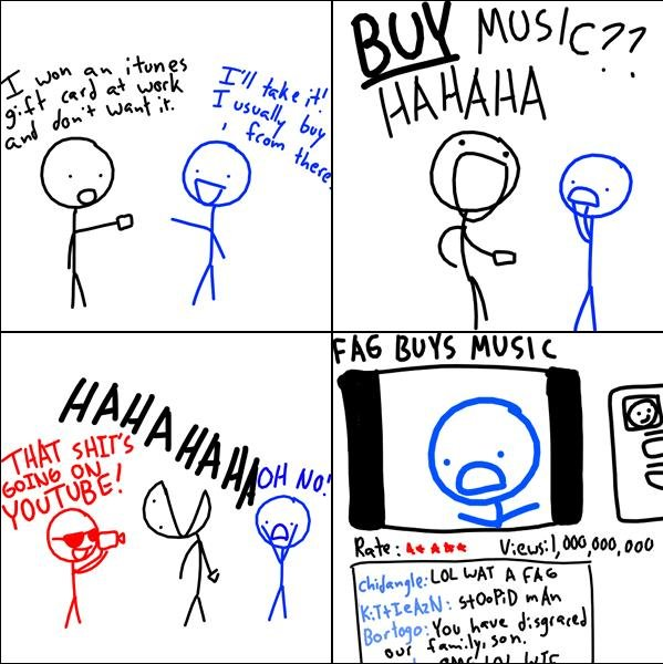 buys music
